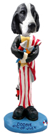 Springer Spaniel Black & White  4th of July Doogie Collectable Figurine
