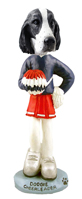 Springer Spaniel Black & White  Cheerleader Doogie Collectable Figurine
