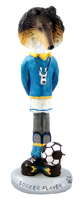 Collie Tricolor Soccer  Doogie Collectable Figurine