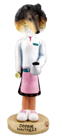 Collie Tricolor Waitress Doogie Collectable Figurine