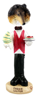 Collie Tricolor Waiter Doogie Collectable Figurine