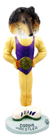 Collie Tricolor Wrestler Doogie Collectable Figurine