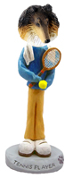 Collie Tricolor Tennis Player Doogie Collectable Figurine