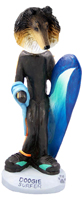 Collie Tricolor Surfer Doogie Collectable Figurine