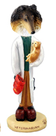 Collie Tricolor Veterinarian Doogie Collectable Figurine