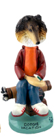 Collie Tricolor Vacation Doogie Collectable Figurine