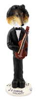 Collie Tricolor Violinist Doogie Collectable Figurine