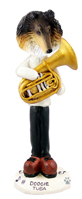 Collie Tricolor Tuba Doogie Collectable Figurine