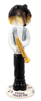 Collie Tricolor Trumpeter Doogie Collectable Figurine