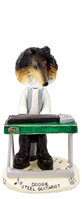 Collie Tricolor Steel Guitarist Doogie Collectable Figurine