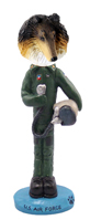 Collie Tricolor U.S. Air Force Doogie Collectable Figurine