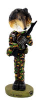 Collie Tricolor U.S. Army Doogie Collectable Figurine