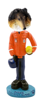 Collie Tricolor U.S. Coast Guard Doogie Collectable Figurine