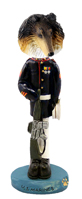 Collie Tricolor U.S. Marines Doogie Collectable Figurine