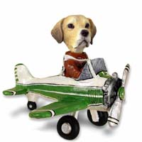 Labrador Retriever Yellow Airplane Doogie Collectable Figurine