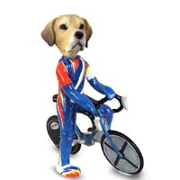 Labrador Retriever Yellow Bicycle Doogie Collectable Figurine