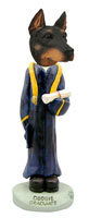 Doberman Pinscher Black w/Cropped Ears Graduate Doogie Collectable Figurine