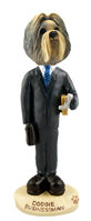 Shih Tzu Mixed Color Businessman Doogie Collectable Figurine