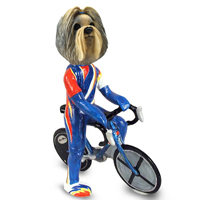 Shih Tzu Mixed Color Bicycle Doogie Collectable Figurine