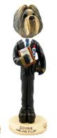 Shih Tzu Mixed Color Airline Pilot Doogie Collectable Figurine