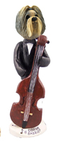 Shih Tzu Mixed Color Bassist Doogie Collectable Figurine