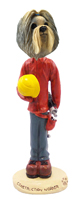Shih Tzu Mixed Color Construction Worker Doogie Collectable Figurine