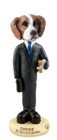 Brittany Brown & White Businessman Doogie Collectable Figurine