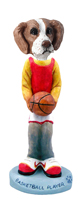 Brittany Brown & White Basketball Doogie Collectable Figurine