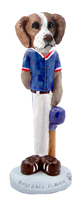 Brittany Brown & White Baseball Doogie Collectable Figurine
