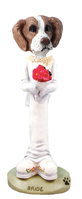 Brittany Brown & White Bride Doogie Collectable Figurine