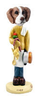 Brittany Brown & White Chef Doogie Collectable Figurine