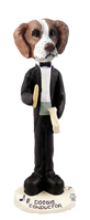 Brittany Brown & White Conductor Doogie Collectable Figurine