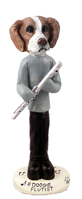 Brittany Brown & White Flutist Doogie Collectable Figurine
