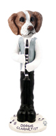 Brittany Brown & White Clarinetist Doogie Collectable Figurine
