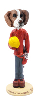 Brittany Brown & White Construction Worker Doogie Collectable Figurine