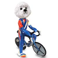 Bichon Frise Bicycle Doogie Collectable Figurine