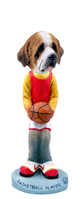 Saint Bernard w/Rough Coat Basketball Doogie Collectable Figurine