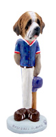 Saint Bernard w/Rough Coat Baseball Doogie Collectable Figurine
