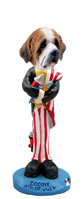 Saint Bernard w/Rough Coat 4th of July Doogie Collectable Figurine