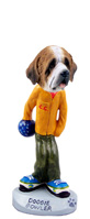 Saint Bernard w/Rough Coat Bowler Doogie Collectable Figurine
