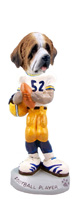 Saint Bernard w/Rough Coat Football Player Doogie Collectable Figurine
