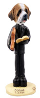 Saint Bernard w/Rough Coat Clergy Doogie Collectable Figurine
