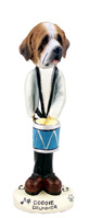 Saint Bernard w/Rough Coat Drummer Doogie Collectable Figurine