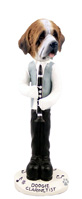 Saint Bernard w/Rough Coat Clarinetist Doogie Collectable Figurine