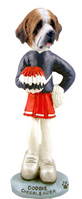Saint Bernard w/Rough Coat Cheerleader Doogie Collectable Figurine