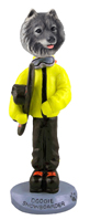 Keeshond Snowboarder Doogie Collectable Figurine