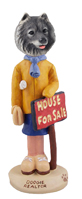 Keeshond Realtor (female) Doogie Collectable Figurine
