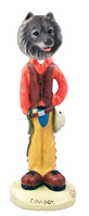 Keeshond Cowboy Doogie Collectable Figurine