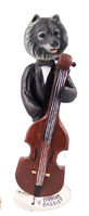 Keeshond Bassist Doogie Collectable Figurine