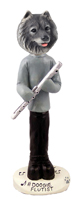 Keeshond Flutist Doogie Collectable Figurine